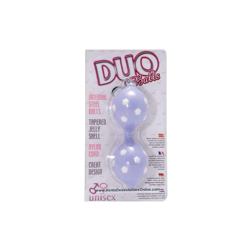 2 Bolas Chinas con bolas de acero en interior color azul