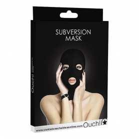 Mascara negra con aberturas