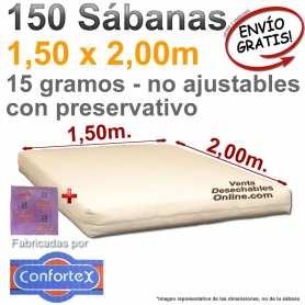 150 Sábanas Desechables 1,50x2,00m con preservativo Confortex