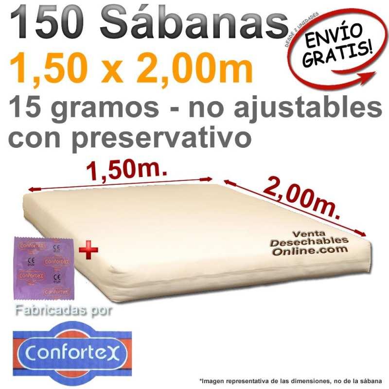150 Sábanas Desechables 1,50x2,00m. con preservativo