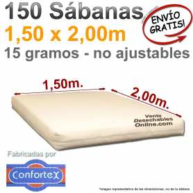 150 Sábanas Desechables 1,50x2,00m.
