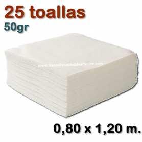 25 Toallas 50gr 0,80 x 1,20 metros