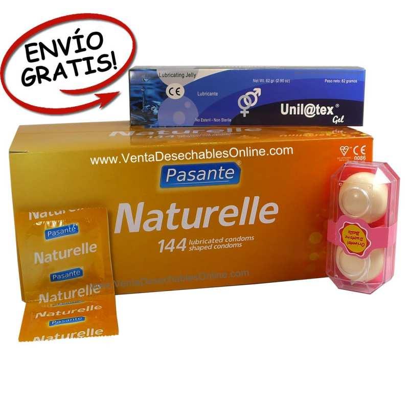 144 Preservativos Pasante más lubricante y bolas chinas