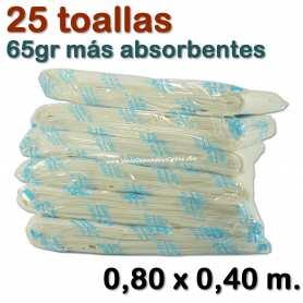 25 Toallas Spunlace 65gr 0,80 x 0,40 metros
