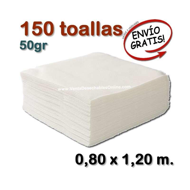 150 Toallas 50gr 0,80 x 1,20 metros