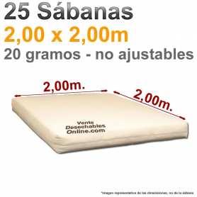 25 Sábanas Desechables 2,00x2,00m