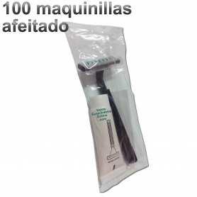 100 Maquinillas Afeitado 2 Hojas Con Crema