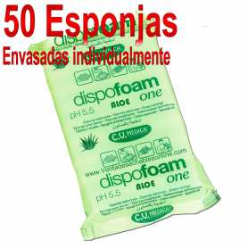 50 Esponjas Jabonosa Aloe