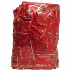 100 Preservativos Vitalis 190x53mm Sabor Fresa
