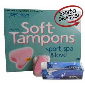 Caja 50 Esponjas Regla y Lubricante Vaginal