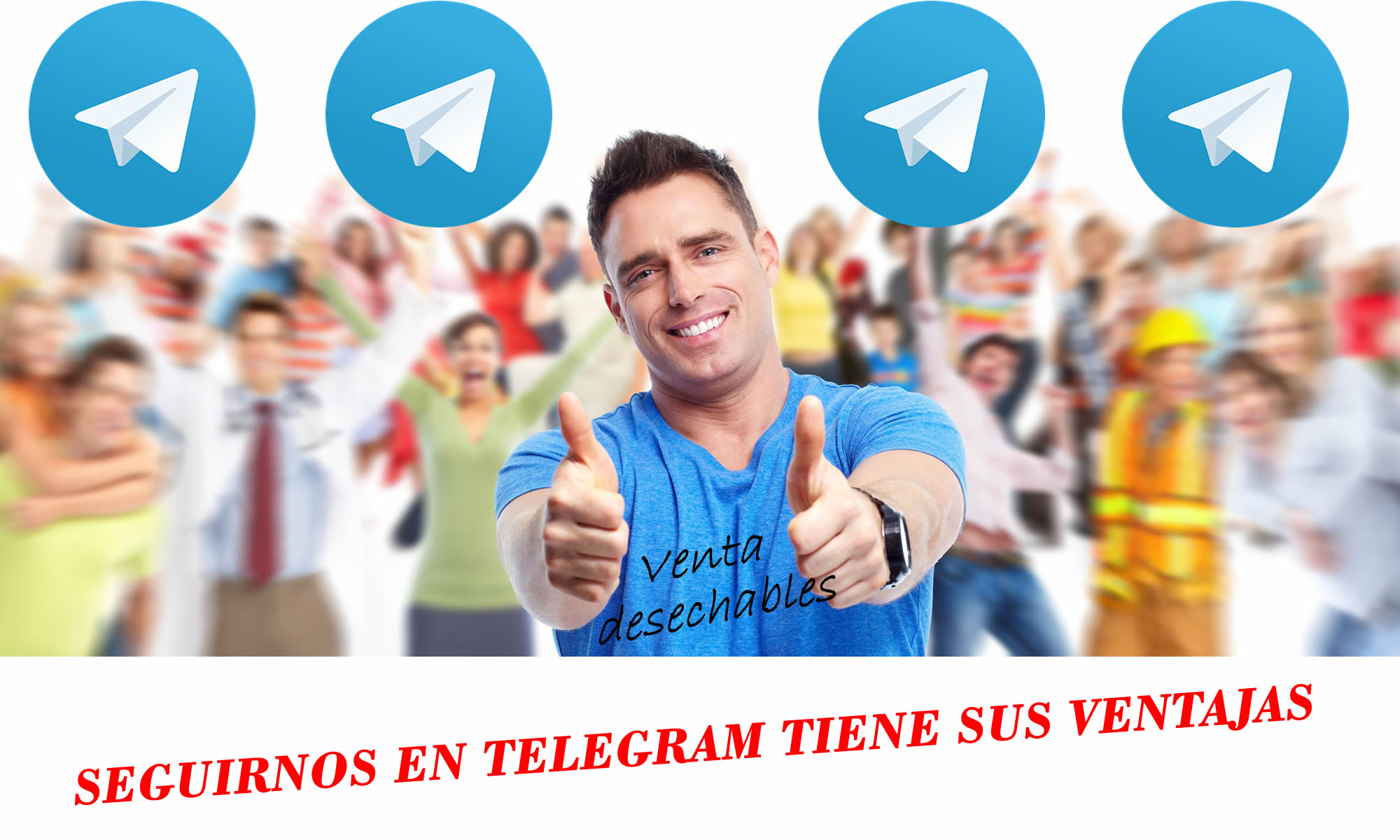 telegram venta desechables
