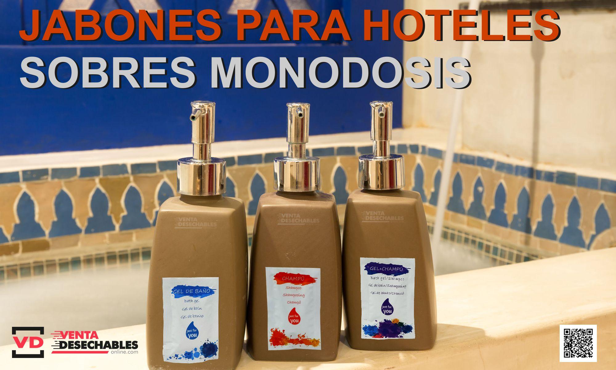 Jabones para hoteles en sobres monodosis
