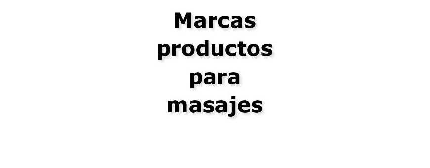 Marcas masajes